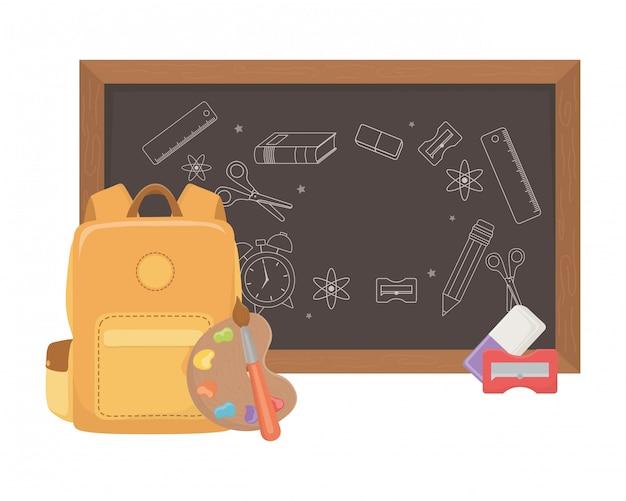 Geïsoleerde schoolbord van schoolontwerp