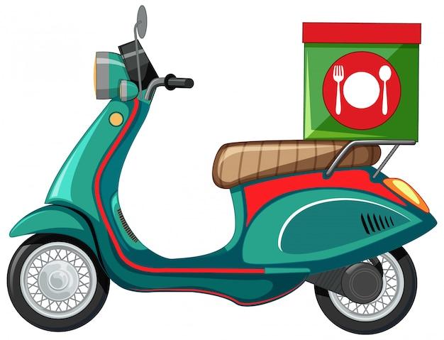 Geïsoleerde scooter cartoon op witte achtergrond