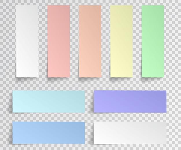 Geïsoleerde set papieren stickers
