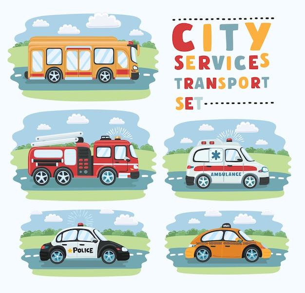 Geïsoleerde stadsvervoer voor noodgevallen