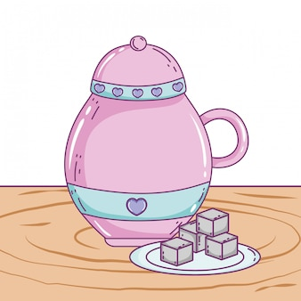 Geïsoleerde suikerpot