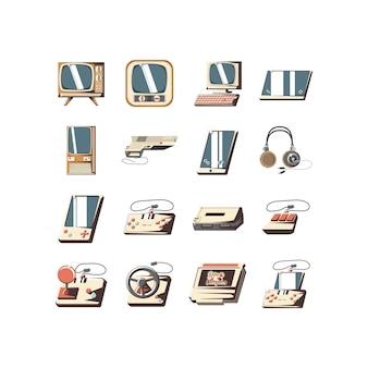 Geïsoleerde videogame icon set