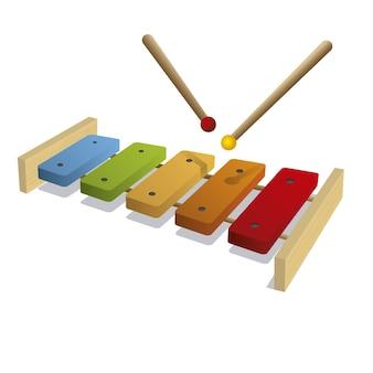 Geïsoleerde xylofoon achtergrond
