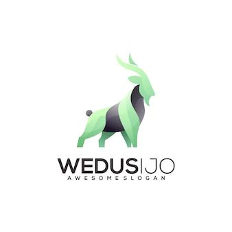 Geit kleurrijke logo afbeelding