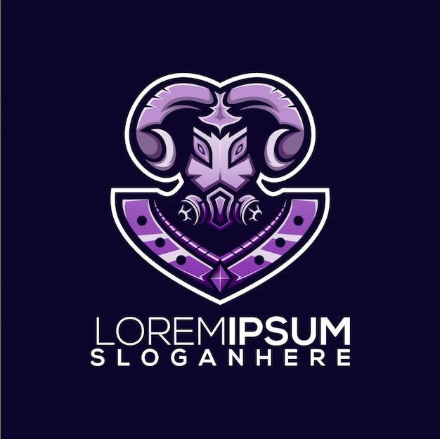 Geit logo esport sjabloon
