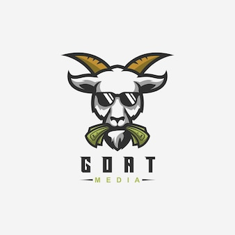 Geit logo ontwerp met vector voor sjabloon