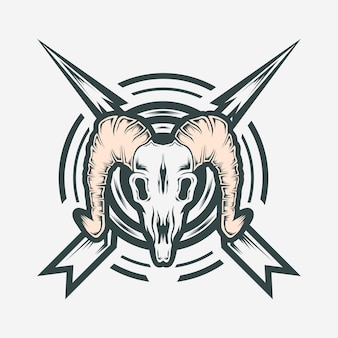 Geiten schedel logo