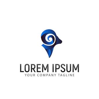 Geitenkop logo ontwerpsjabloon concept