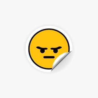 Gekke of boze emoji-sticker. stemming. emotie.