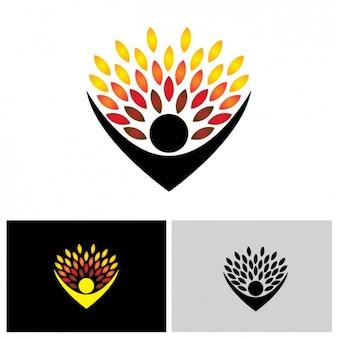 Gekleurd logo design