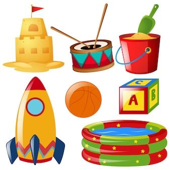 Gekleurd speelgoed collectie