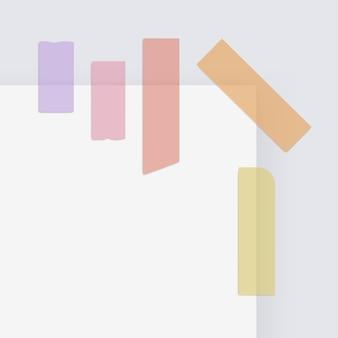 Gekleurd zelfklevend maskeerpapier sticky scotch strip tapes