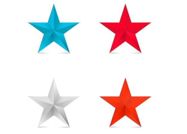 Gekleurde 3d sterren