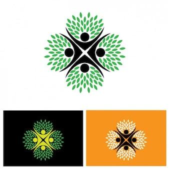 Gekleurde abstracte logo