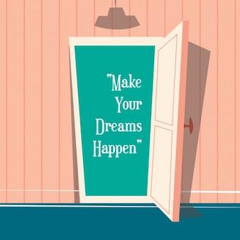 Gekleurde achtergrond met een citaat