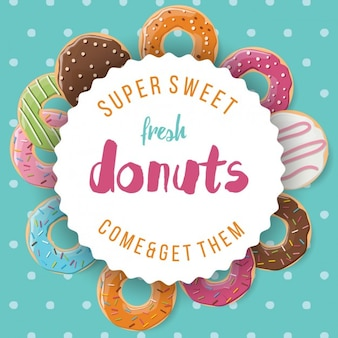 Gekleurde achtergrond van donuts
