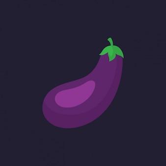 Gekleurde aubergine ontwerp