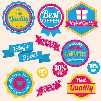 Gekleurde badges collectie