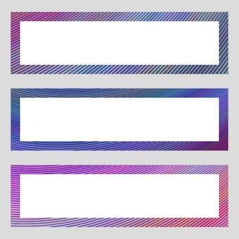 Gekleurde banners collectie