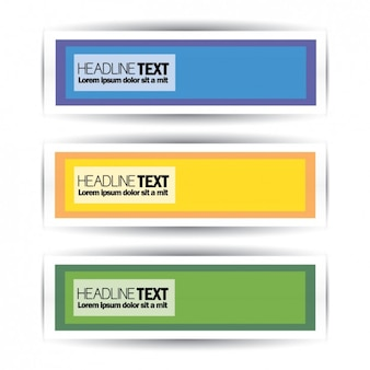 Gekleurde banners ontwerp