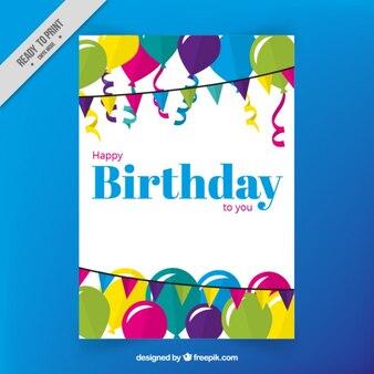 Gekleurde birthdaycard ontwerp