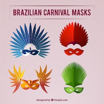 Gekleurde braziliaanse carnaval maskers