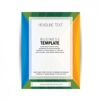 Gekleurde brochure template