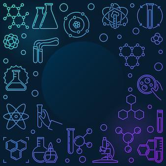 Gekleurde chemie schets illustratie