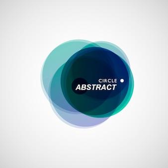 Gekleurde cirkels verzameld in abstracte compositie