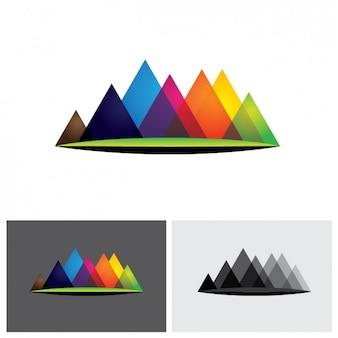 Gekleurde driehoeken logo