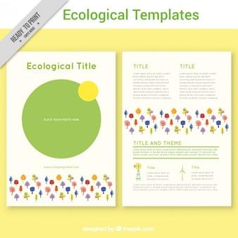 Gekleurde ecologische flyer template