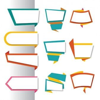 Gekleurde etiketten collectie