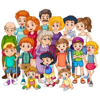 Gekleurde familie ontwerp