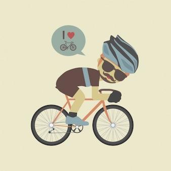 Gekleurde fietsen achtergrond