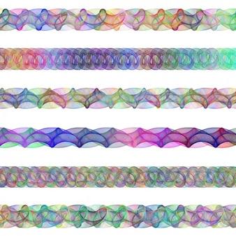 Gekleurde fractal afscheiders collectie