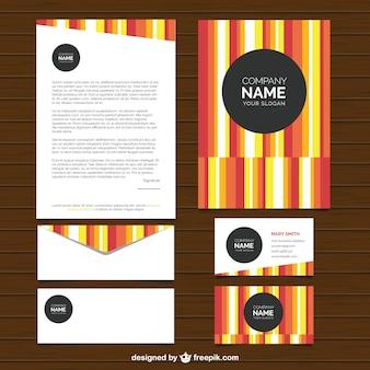 Gekleurde gestreepte zakelijke briefpapier