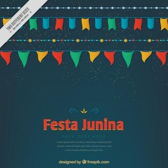 Gekleurde gorzen festa junina achtergrond