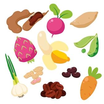 Gekleurde groenten collectie