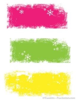 Gekleurde grunge banners achtergrond vector set