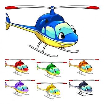 Gekleurde helikopter collectie