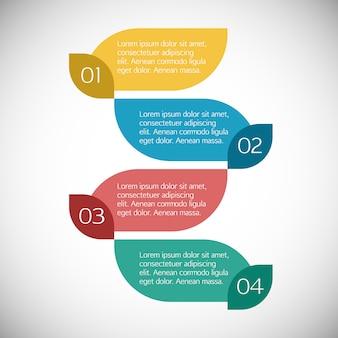Gekleurde infografische sjabloon