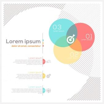 Gekleurde infographic template