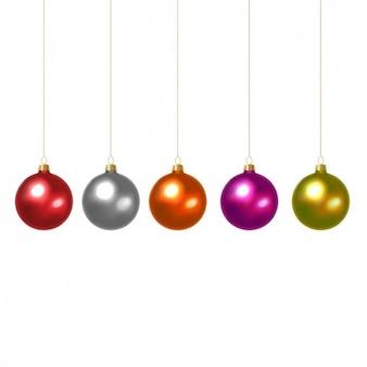 Gekleurde kerstballen collectie