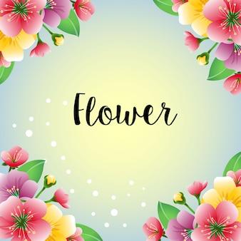 Gekleurde kleurrijke bloemplaat