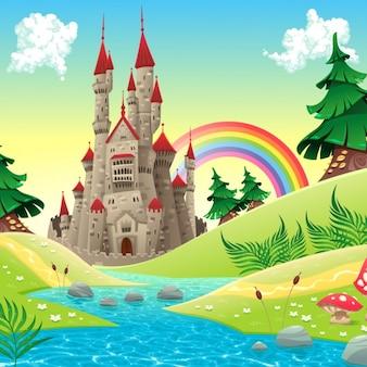 Gekleurde landschap achtergrond