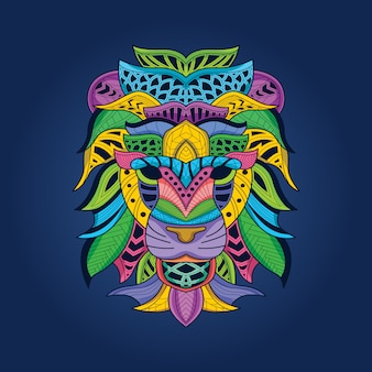 Gekleurde leeuwenkop