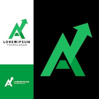 Gekleurde letter een logo ontwerp vector