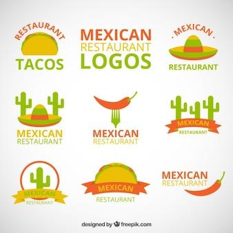 Gekleurde logo's voor mexicaans restaurant