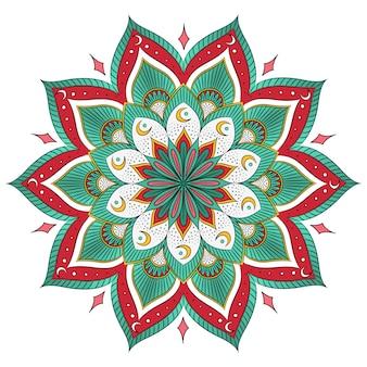 Gekleurde mandala adesign