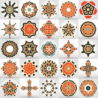 Gekleurde mandala's verzameling